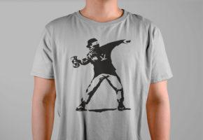 футболка-бэнкси